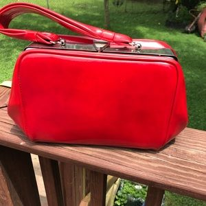 Vintage red snap top purse – 1960s – beautiful-❤️